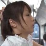痴漢されたくてわざとバスに乗る女子大生