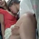 2人の美人巨乳お姉さんを満員バスで痴漢して豪快ピストンする動画