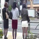 エロムチタイトスカート美脚美女達がバスで痴漢される動画