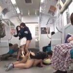 周りの乗客に何も言わせず大胆に好みの女を痴漢レイプする男達