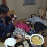 家族で鍋中に昏睡させられた美人妻が店主に中出しされる痴漢動画