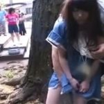 夏休みのラジオ体操中に痴漢される可愛らしい童系女子動画