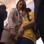 担任のTバック美人女教師から電車で逆痴漢され性指導受ける生徒