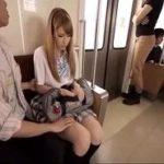 電車で全裸集団痴漢されるハーフ美人JK