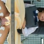 妊娠検査に来たJKが産婦人科医からされた媚薬電流責めで痙攣アクメ