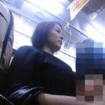 揺れる電車の中でチカンされる赤外線カメラアングル動画