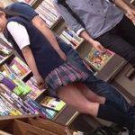 軟体JKが書店でチカンされた後に集団輪姦される