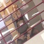 セクシーガーターランジェリー着た図書館従業員美女がチカンされるエロ動画