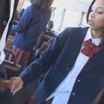 日本人好きな黒髪USA痴女がいるハイスクールバスに乗ったら逆痴漢された僕